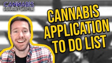 Cannabis Application To Do List