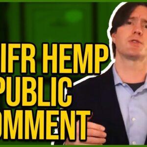 DEA HEMP IFR Public Comment Template - Copy & Paste at Regulations.gov