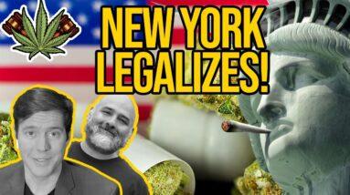 New York Votes to Legalize Marijuana; New York Becomes 16th State to Legalize Marijuana